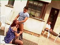 Granny in Glasses and squirit compli Outdoor Shave and Fuck
