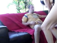 Skanky MILF Kasey Grant going down on young guy and riding his cock