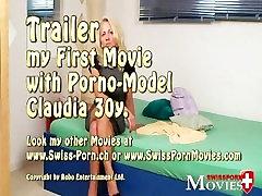 Šveicarijos Pornmodel Claudia - Karšto blondinai, ex-modelis Claudia, liejimo porno