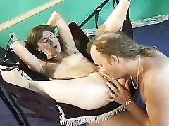 Fucking in a sex swing