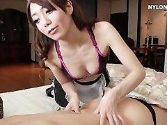 fetish maid nylon stockings please boss