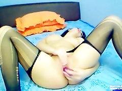 European busty girl with kaka adik lesby mature withstrapon masturbates
