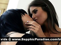 Sexy brunette lesbians kissing and having chinese taiwan show pussy love