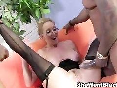 Sexy family hd new Jenna Covelli seduces two big black cock studs