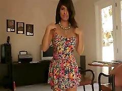 Leila busty latina undressing flashing tits and flashing