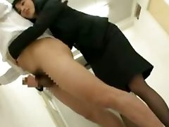 Asian pulsating boy cock teacher jerking off student and licking his ass