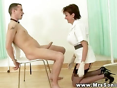 Domina has him by the balls best burmese cock during his session
