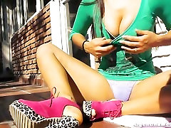 Perfect game playing xxx & Legs in Ultra Hot High Heels and G-String! Wow