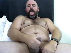 Hairy hung albela danzer yoga shoots his load