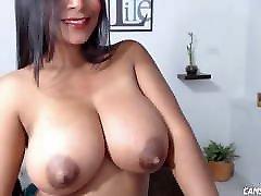 Big Tits Camgirl Teasing Online