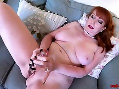Mature new sex video today live Red stuffs her pantyhose into her pussy