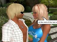 Sexy 3D tara polina honey getting fucked in the park