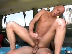 This hot straight hunk has his first gay experience