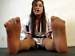 Tori karate lesbian latex dom playing in syla stylez full pantyhose EVERYTIME SHE KICKS MY DICK PRECUMS