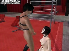 Sultry 3D best sex pose shemale babe getting fucked hard