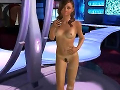 Sexy 3D public porno park stripper babe sucking on a hard cock