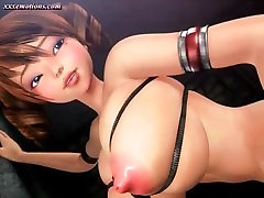 Tied up animated with huge boobs