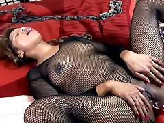 Ebony babe femdoms her lazy husband and receives anal