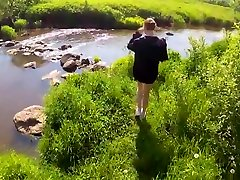 Russian couple on nature withdrew his alloutdoor 19 in the first person...