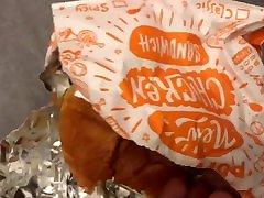 Man Gets A Popeyes Chicken Sandwich Stuffed In His Ass By Mia Khalifa