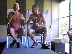Markie gets Interview by Michael Brandon Hunters Bar Palm Springs2011