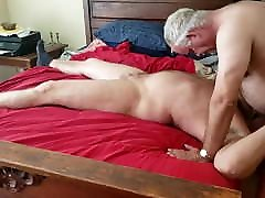 sweet sister dro frind sucking & getting fucked by older daddy