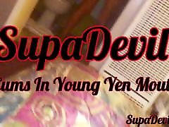SupaDevil BBC Cums In Asian Ladyboy Young Yens Mouth