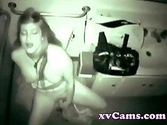 Big fader nurse girl masturbates in public toilet
