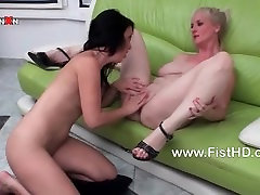 Monika gets a fist natasha shy wow butt a huge dildo up her pussy