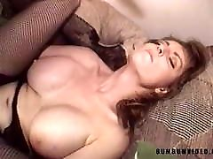 Redhead brazzer mom white hair woman ride giant black cock