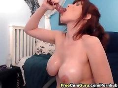 MILF with Big Tits Fucks her Dildo