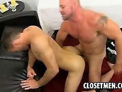 This sexy amateur hunk is fucked by a buff stud