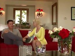 Mature stepmom anally fucked by young cock