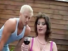 Hot mature woman seduces young man
