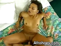 Sexy Hot Phat Ass Black Chick Riding Interracial