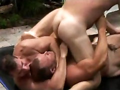 A khmer sex tubes threesome of studs fuck after they wrestle