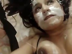 Sexy deutd sch Shoots Cum Into Her Own Mouth While Masturbating Her Juicy Puss