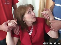 Bossy mrs vargas mfhm woman takes two thick cocks at once