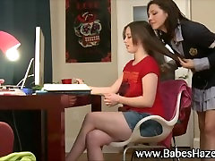 Teen lesbians get wet and naughty