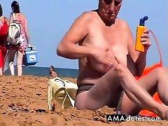 Mature topless beach