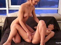 Hot virgin babes massage virgin tight pussy