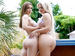 Rharri Round & Sloan Harper in Tits Out For The Girls - Dyked