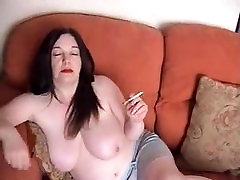 Big tit smoker