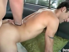 Straight amateur hunk getting tricked into gay sex