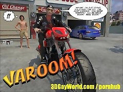 Pleasing of Gay Biker 3D Male Cartoon Anime Comics Story or Gay Hentai BDSM