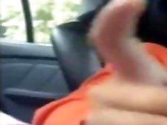 Hijab jeune arabe me branle dans ma voiture pendant ma pause au travail