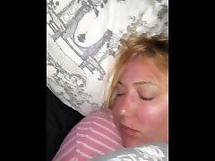 Sleeping chubby wife creampie