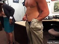 Blonde juicy ass riding MILF sells her husbands stuff for bail