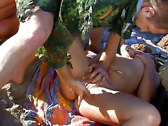 hard and rough orgy on the beach outdoors