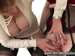 Mature office gales in stockings Lady Sonia